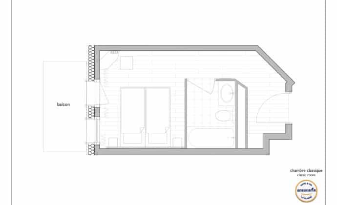 ARAUCARIA - PLAN - Chambre Classique 2