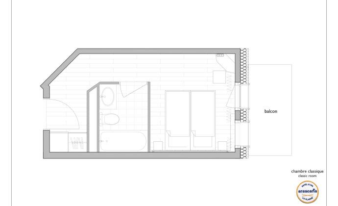 ARAUCARIA - PLAN - Chambre Classique