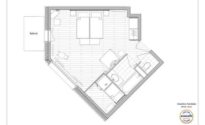 ARAUCARIA - PLAN - Chambre familiale
