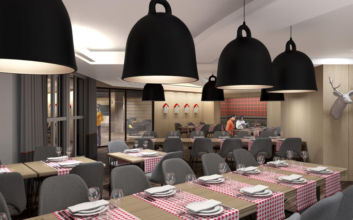 Araucaria Hotel & Spa La Plagne salle restaurant visuel