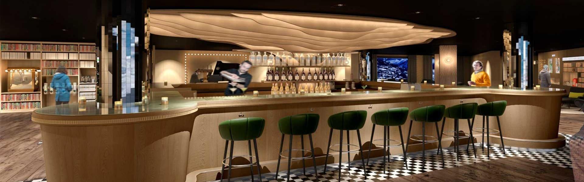 Araucaria Hotel & Spa La Plagne bar serveur